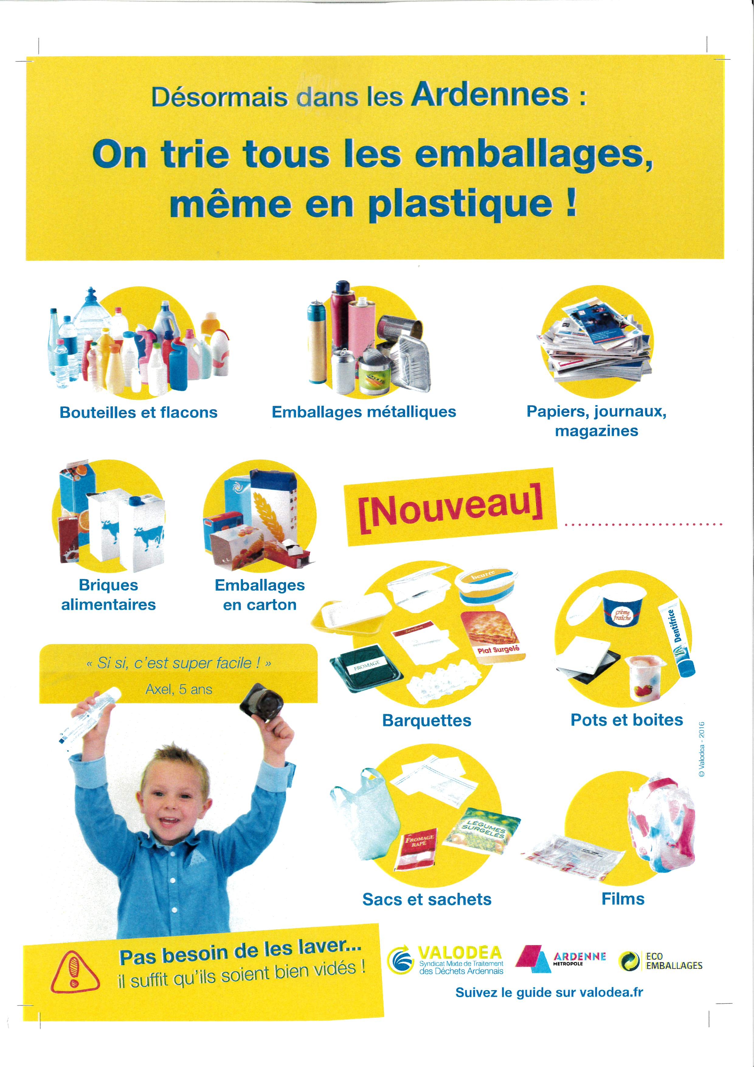 on trie tous les emballages